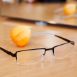 Glasses On Wooden Table — 图库照片
