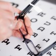Optician fixing frame — Stock Photo