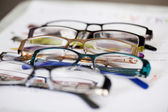 Glasses Displayed On Paper — Stock Photo