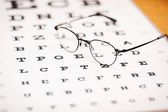 Eye glasses with thin frame — Stock Photo