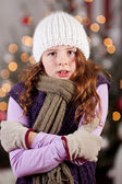 Shivering cold young girl — Stock Photo