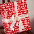 Red Christmas gift — Stock Photo