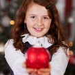 Beautiful charming little Christmas girl — Stock Photo