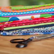 Stock Photo: Fabric samples