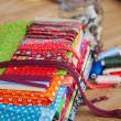 Zips, borders and textiles — Stock Photo