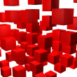 Red cubes background — Stock Photo