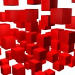 Red cubes background — Stockfoto