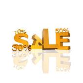Yellow sale sign — Stock Photo