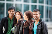 Young man with his friends — Stock Photo