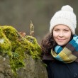 Smiling woman outdoors in winter — Stock Photo