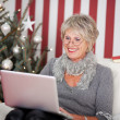 Attractive senior using a laptop — Stock Photo #27948003
