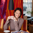 Womenjoying coffee in beautiful interior — Stock Photo #27954905