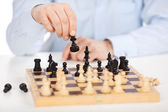 Skillful chess player — Stock Photo