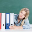 Student with set of files — Stock Photo #28076103