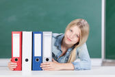 Student with set of files — Stock Photo