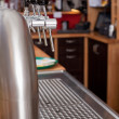View behind a counter in a bar — Stock Photo