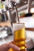 Dispensing draft beer — Stock Photo