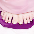 Beautiful toe nails — Stock Photo