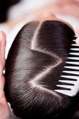 Creative hairstyle — Stock Photo
