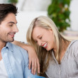 Young couple having fun together at home — Stock Photo
