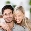 Happy married couple at home — Stock Photo