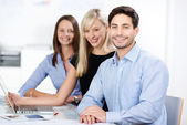 Confident competent business team — Stock Photo
