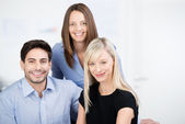 Portait of three business colleagues — Stock Photo