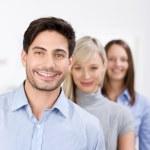 equipe de negócios motivados — Foto Stock