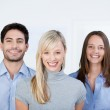 Business People Smiling Together In Office — Stock Photo