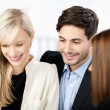 Couple in a meeting with an adviser — Stock Photo #28152409