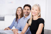 Successful business team in the office — Stock Photo