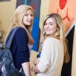 Two attractive teenage girls — Stock Photo