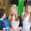 Laughing young students having fun — Stock Photo
