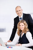 Competent dedicated business team — Stock Photo