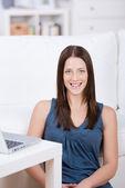 Smiling female — Stock Photo