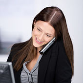 Calling businesswoman — Stock Photo