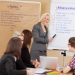 Businesswoman presenting ideas — Stockfoto