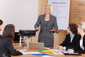 Woman giving a corporate training class — Stock Photo