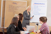 Businesswoman presenting ideas — Stock Photo