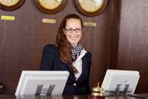 Friendly receptionist — Stock Photo