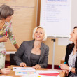 Female business team in a meeting — Stock Photo