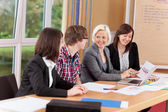 Group working in a meeting — Stock Photo
