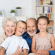 Happy family portrait — Stockfoto