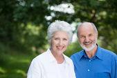 Happy healthy senior couple — Stock Photo