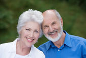 Portrait of a loving senior couple — Stock Photo