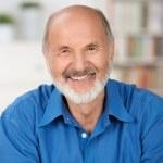 Caucasian cheerful bearded senior man smiling — Stock Photo #30760831