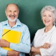 Confident happy senior couple — Stock Photo