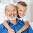 Happy young boy with his grandfather — Stock Photo #30761403