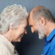Playful loving senior couple — Stock Photo