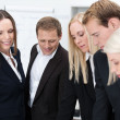 Group of businesspeople having a discussion — Stock Photo